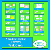 A Bundle of 9 Geometry Task Cards