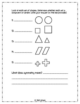 Geometry: A Common Core Assessment