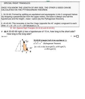 HS [Remedial] Geometry A UNIT 7: Pythagorean Theorem(5 worksheets; 6 quizzes)