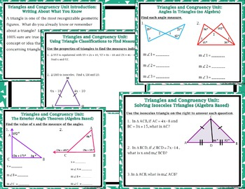 Congruent Triangles - Unit 4: Triangles & Congruency Bellwork / Do - Nows