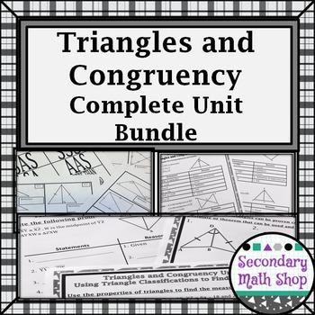 Congruent Triangles - Unit 4: Triangles, Congruency Resources, UNIT BUNDLE