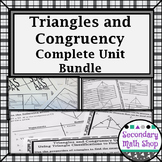 Congruent Triangles - Unit 4: Triangles, Congruency Resources, UNIT BUNDLE