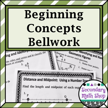 Unit One: Beginning Concepts Bellwork - Bellringers - Station Cards