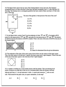 Geometry ACT Prep - Top 80 Problems with Ratios, Proportions, and Percentages