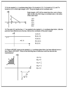 Geometry ACT Prep - Top 85 Problems with Coordinate Geometry + Distance Formula