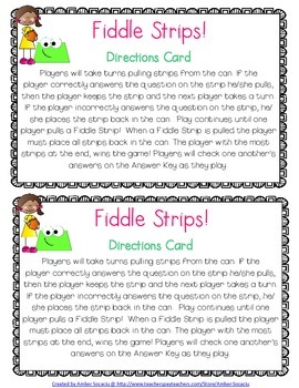 Geometry Academic Vocabulary Fiddle Strips!