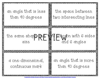 Geometry Academic Vocabulary Workbook and Assessments for 3rd Grade