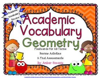 Geometry Academic Vocabulary Workbook and Assessments for