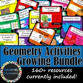 Geometry Activities GROWING Bundle: Lines, Angles, Triangl
