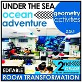 2nd Grade Geometry Activities | Under the Sea Classroom Transformation