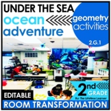 2nd Grade Geometry Activities | Under the Sea Room Transformation
