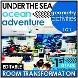 1st Grade Geometry Activities   Under the Sea Classroom Tr