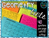 Geometry Activities (Worksheet Alternative) - No Prep Geometry Tents