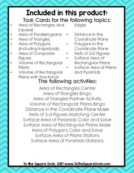 Geometry Activities and Task Cards
