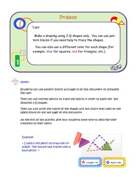 Geometry, Activities for grade 1: 2-D shapes and 3-D figures