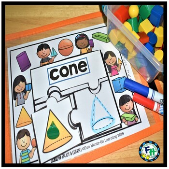 Geometry Activity Center | 3D Shape Puzzle Tracing