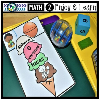 Geometry Activity Center | Ice Cream 3-D Shapes