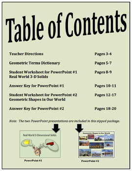 Geometry Activity – Find Geometric Shapes in the Real World