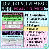 Geometry Activity Pack Bundle - TEKS 3.6A, 3.6B