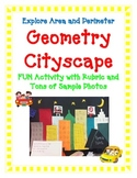 Geometry Activity Project Area Perimeter Measure CITYSCAPE Art creative fun