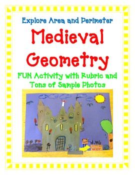 Geometry Activity Project Area Perimeter Measure MEDIEVAL CASTLE Art creative