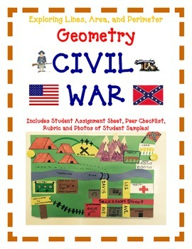 Geometry Activity Project CIVIL WAR -Explore Lines, Area, and Perimeter