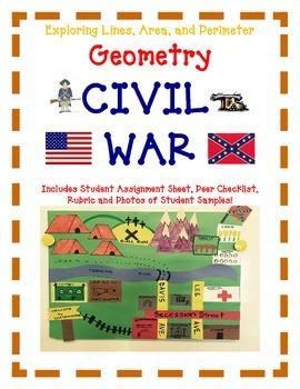 Geometry Activity Project CIVIL WAR -Explore Lines, Area, and Perimeter