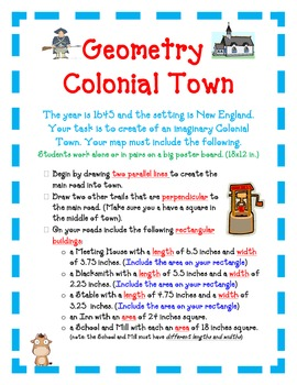 Geometry Activity Project COLONIAL TOWN- Exploring Lines, Area, and Perimeter