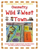 Geometry Activity Project WILD WEST TOWN- Exploring Lines, Area, and Perimeter
