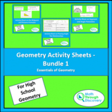 Geometry Activity Sheets - Bundle 1