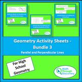 Geometry Activity Sheets - Bundle 3