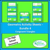 Geometry Activity Sheets - Bundle 4