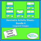 Geometry Activity Sheets - Bundle 4