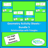 Geometry Activity Sheets - Bundle 5
