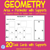 Geometry- Adapted Measurement, Area and Perimeter Activity for Autism Units