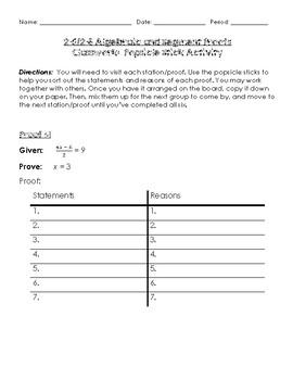 Geometry - Algebraic and Segment Proofs