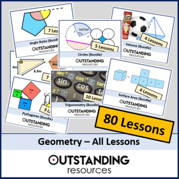 Geometry: ALL Lessons (76 Lessons) + ALL Resources
