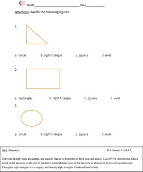 Geometry All Standards - Fourth Grade Common Core Math Worksheets