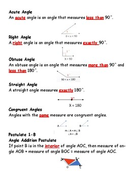 Geometry: Angle Measures