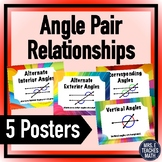 Angle Pair Relationship Posters