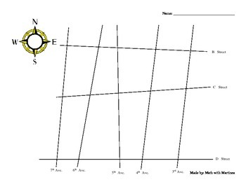 Geometry Angle Pairs Map Labeling Worksheet