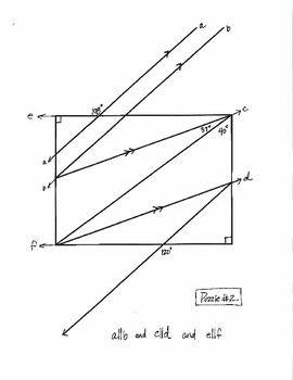Geometry: Angle Puzzles Involving Parallel Lines Cut by Transversals - Part II