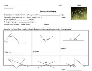 Geometry Angle Review