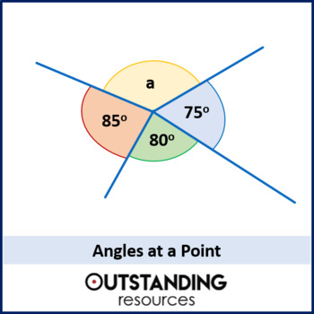 Geometry: Angle Rules 1 - At a Point / Straight Line (+ worksheet)