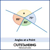Angle Rules 1 - At a Point / On a Straight Line (+ worksheet)