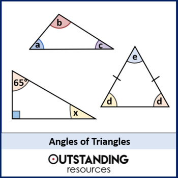 Angle Rules 3 - Angles in Triangles (+ worksheet)