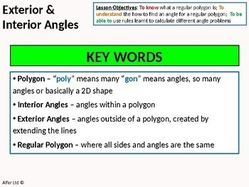 Geometry: Angle Rules 5 - Interior and Exterior Angles (regular polygons) +