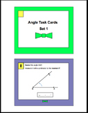 Geometry Angle Task Cards (Set 1)-Supplementary, Complemen
