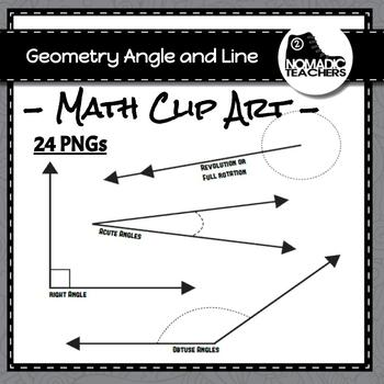 Geometry Angle and Line Clip Art - 24 PNGs