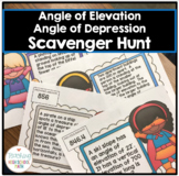 Geometry Angle of Elevation and Depression Scavenger Hunt